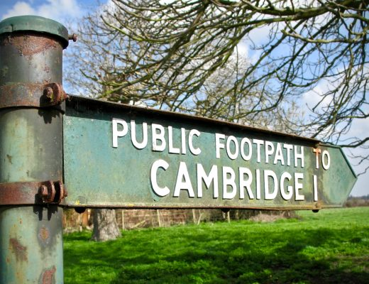 footpath to cambridge sign